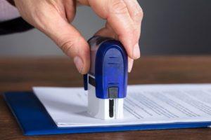 Регистрация штампов и печатей